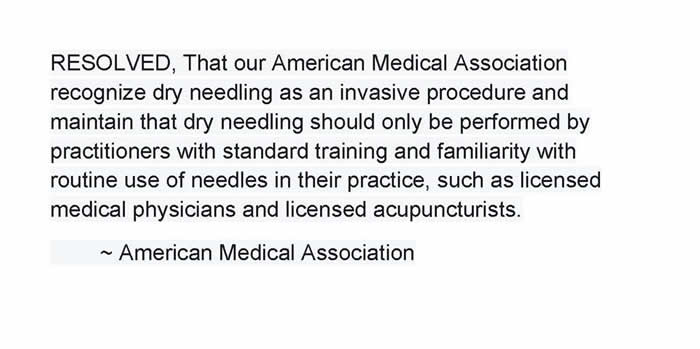 Medical acupuncture/TPDN
